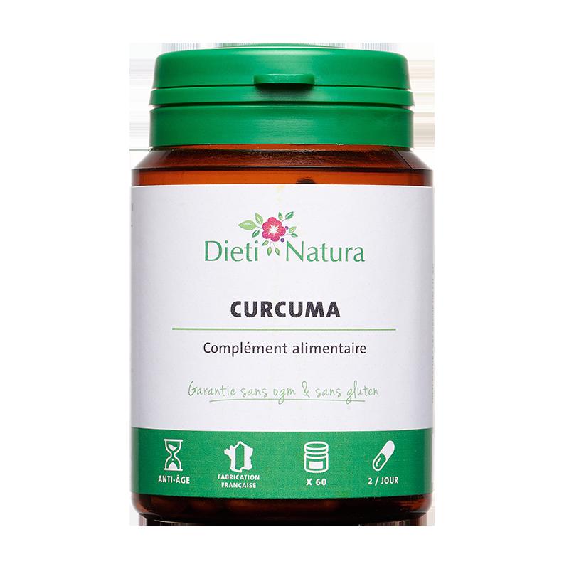Curcuma 95% 60 Gélules - Articulation | Dieti Natura
