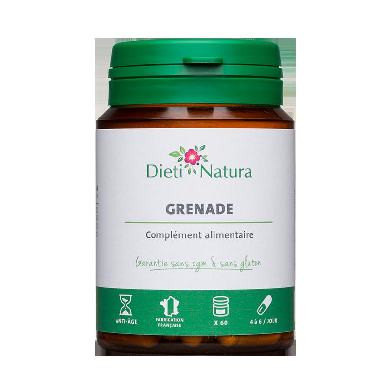 Grenade 60 et 200 Gélules - Anti-âge   Dieti-Natura