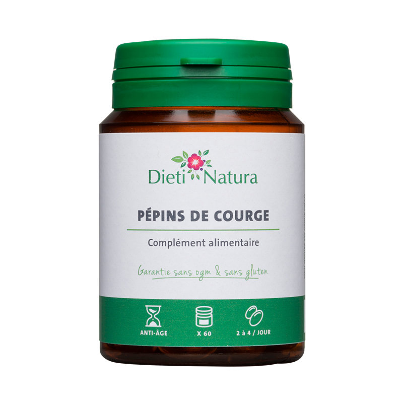 Huile de Pépin de Courge 60 et 200 Capsules - Dieti Natura
