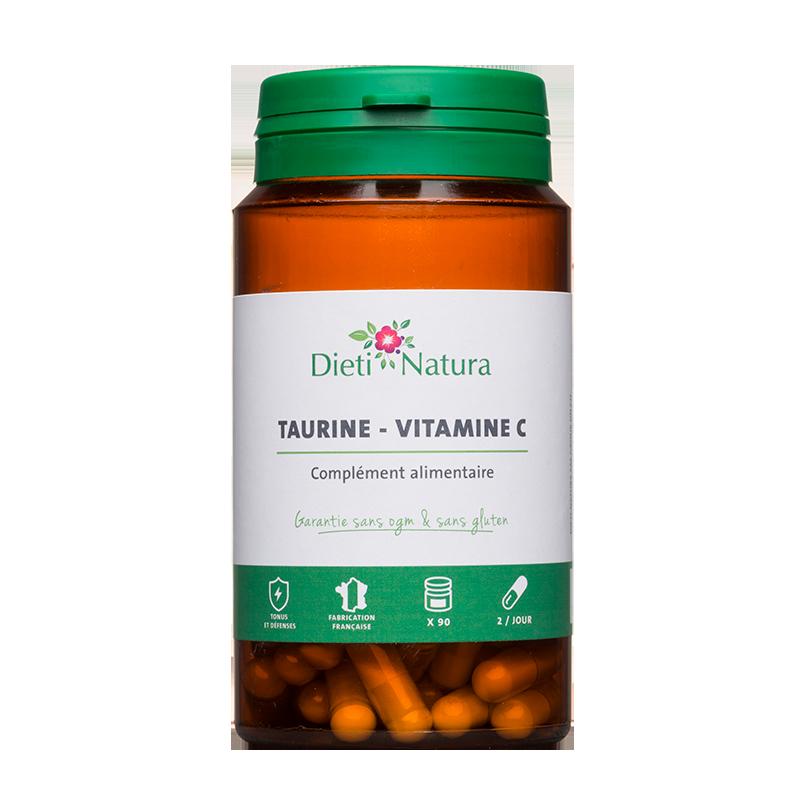 Taurine & Vitamine C 90 Gélules - Tonus | Dieti Natura