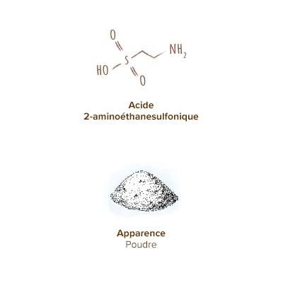 Apparence-taurine-poudre